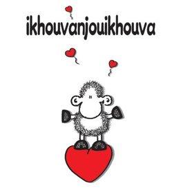 Sheepworld Schaap liefde en vriendschapskaart - Ik hou van jou