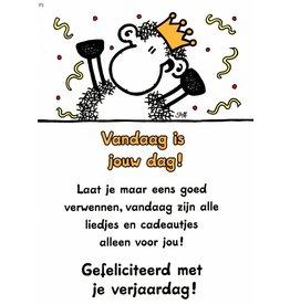 Sheepworld Schaap verjaardagskaart - Vandaag is jouw dag!