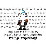 Sheepworld Birthday card sheep - Only 365 nights to the next birthday