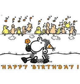 Sheepworld Schaap verjaardagskaart - Happy Birthday!