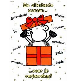Sheepworld Schaap verjaardagskaart - De allerbeste wensen...