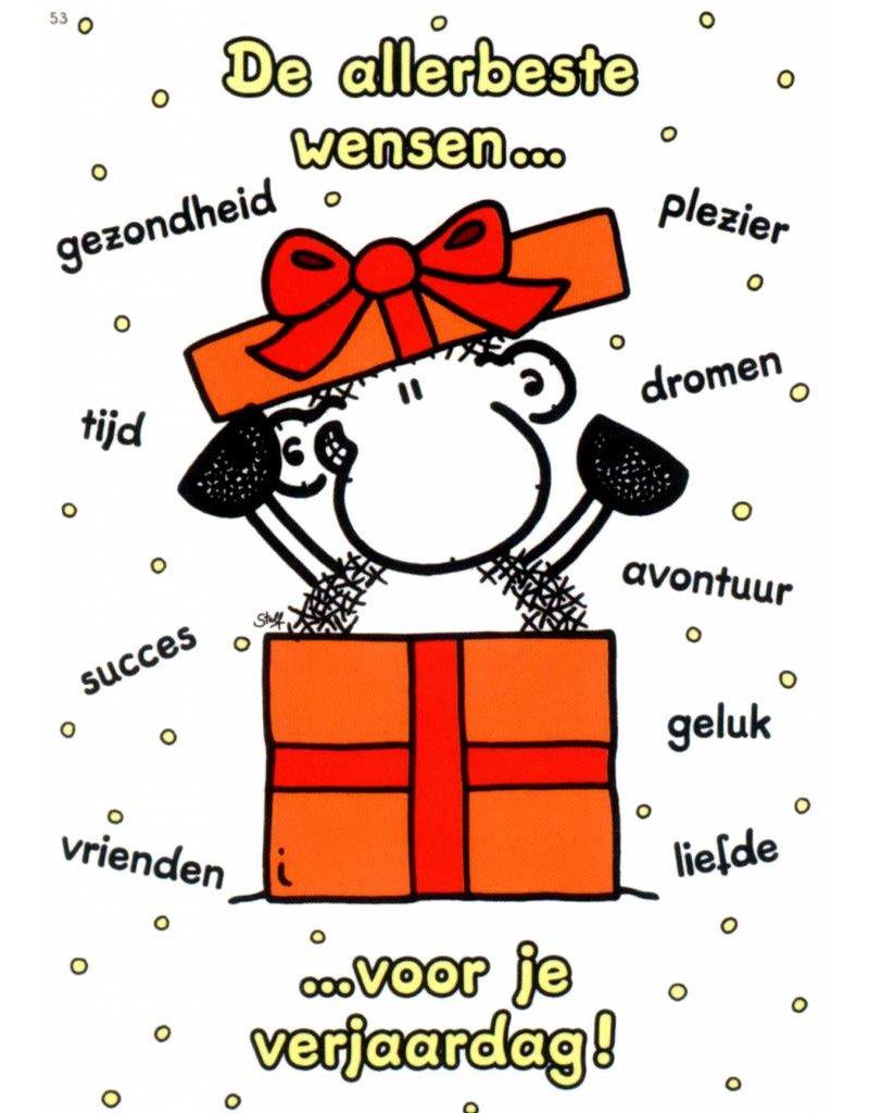 Verjaardagspost Sally Sheepworld-schaap-verjaardagskaart-de-allerbeste-w
