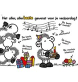 Sheepworld Birthday card sheep - The very, very best for you