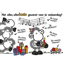 Sheepworld Schaap verjaardagskaart - Het aller, allerbeste gewenst...