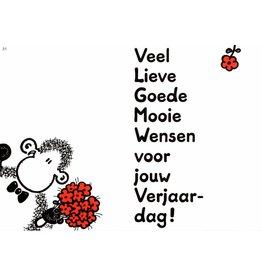 Sheepworld Schaap verjaardagskaart - Veel Lieve Goede Mooie Wensen...