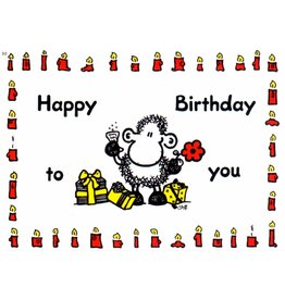 Sheepworld Birthday card sheep - Happy Birthday to you