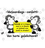Sheepworld Birthday card sheep - DIY confetti