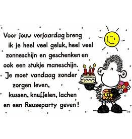 Sheepworld Schaap verjaardagskaart - Voor jouw verjaardag breng ik...