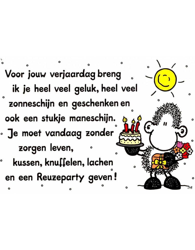 Sheepworld Birthday card sheep - I bring you luck