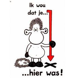 Sheepworld Schaap liefde en vriendschapskaart - Ik wou dat je...