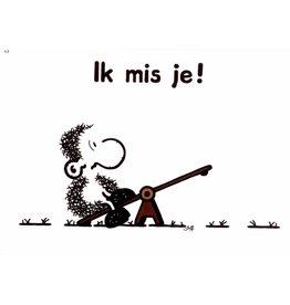 Sheepworld Schaap liefde en vriendschapskaart - Ik mis je!