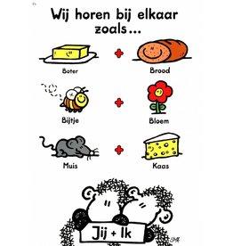 Sheepworld Schaap liefde en vriendschapskaart - Wij horen bij elkaar zoals...