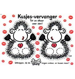 Sheepworld Schaap liefde en vriendschapskaart - Kusjes-vervanger