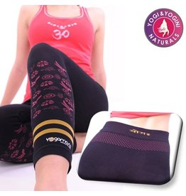 Yoga & Yogini Yogabroek Hatha asana capri naadloos zwart