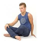 Yoga & Yogini Yoga T-shirt 'Yantra' man indigo