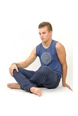 Yoga & Yogini Yoga T-shirt 'Yantra' voor mannen indigo