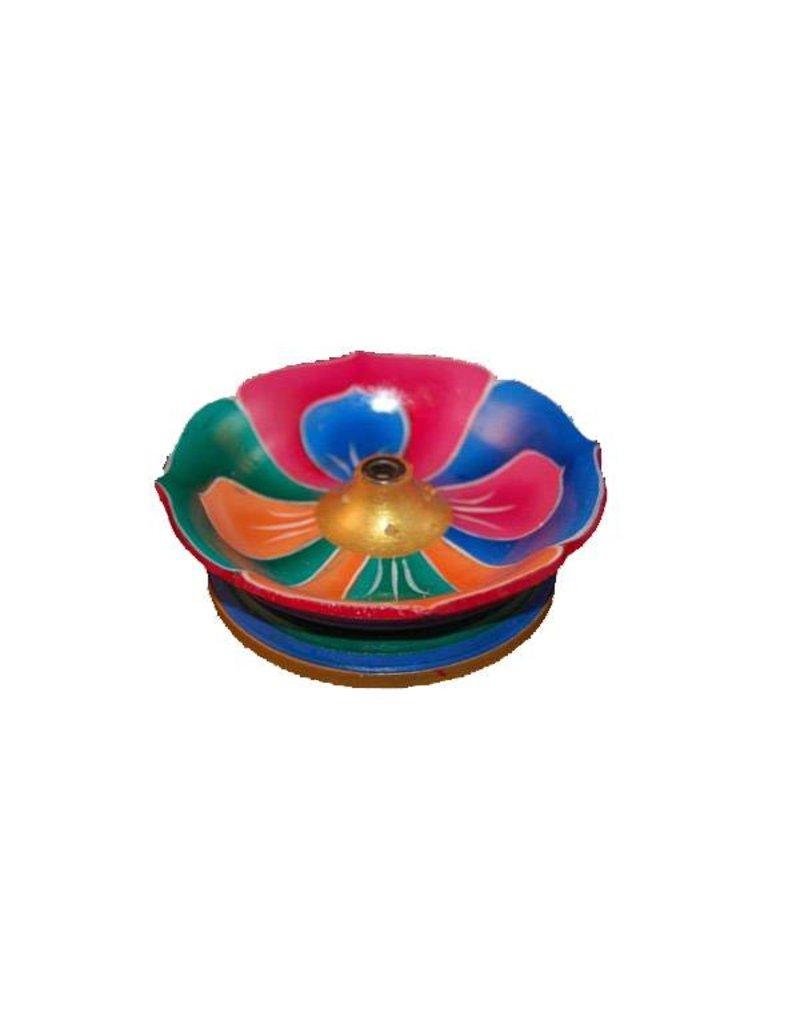 Mandisakura Wierookbrander - Lotus - kleurig gelakt hout