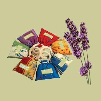 Mandisakura Lavendel geurzakje 25 gram - met houten ring.