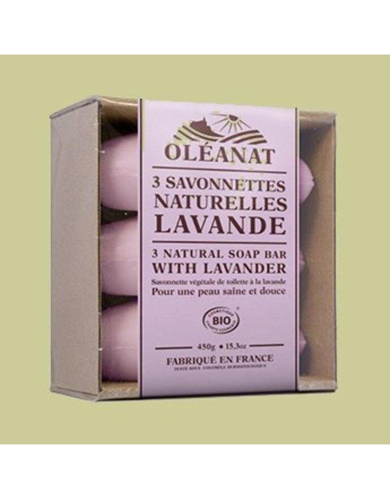 Oleonat Drie zepen met lavendel - biologisch