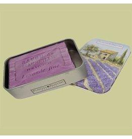 Plantes&Parfums Lavendel zeep in geschenk blikje 100 gram