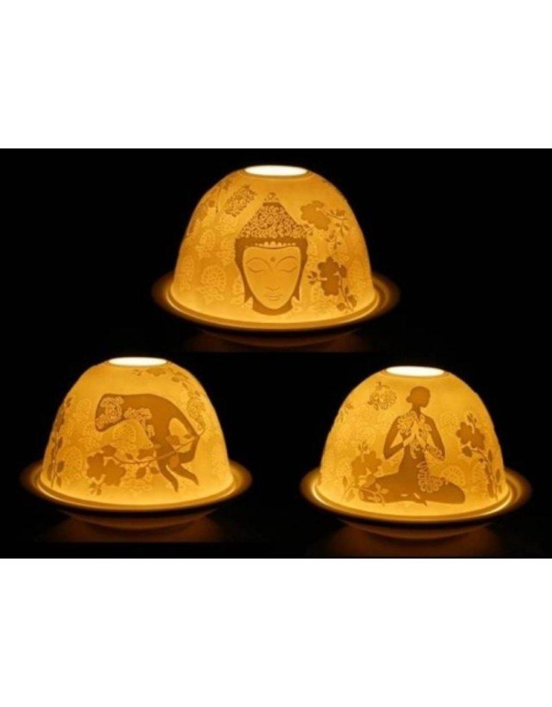 Mandisakura Sfeerlicht porselein Meditatie met 3 afbeeldingen