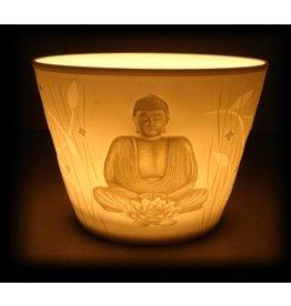 Mandisakura Sfeerlicht porselein 'Boeddha'