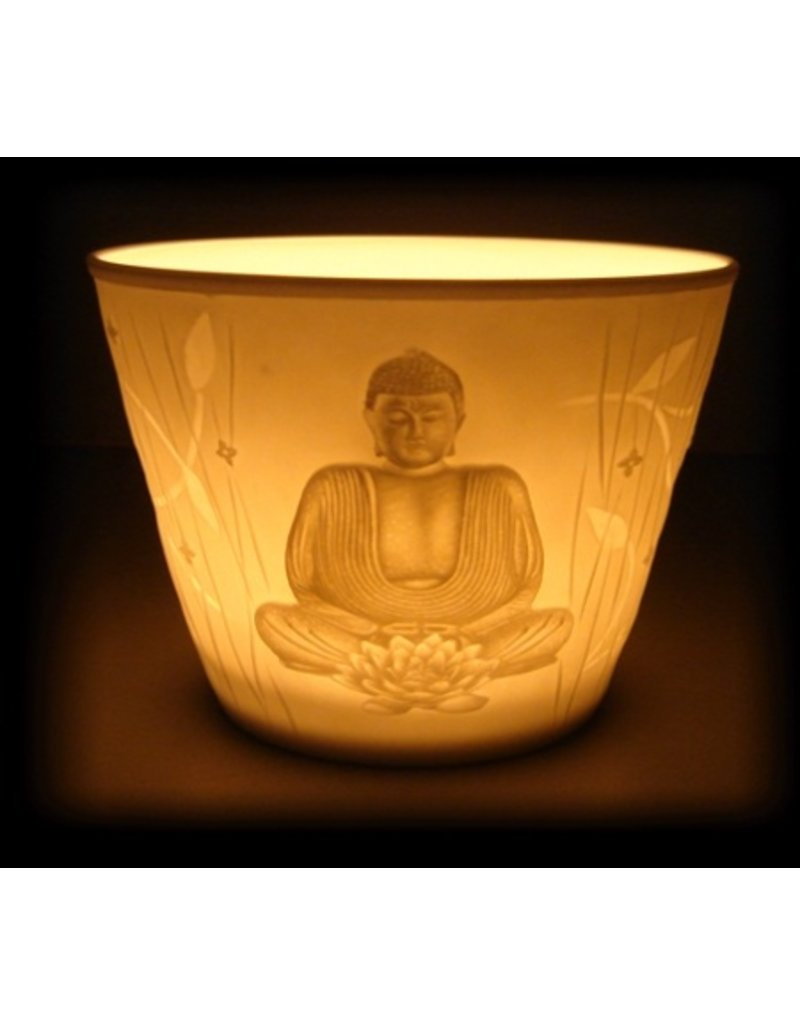 Mandisakura Votieflicht porselein 'Boeddha'