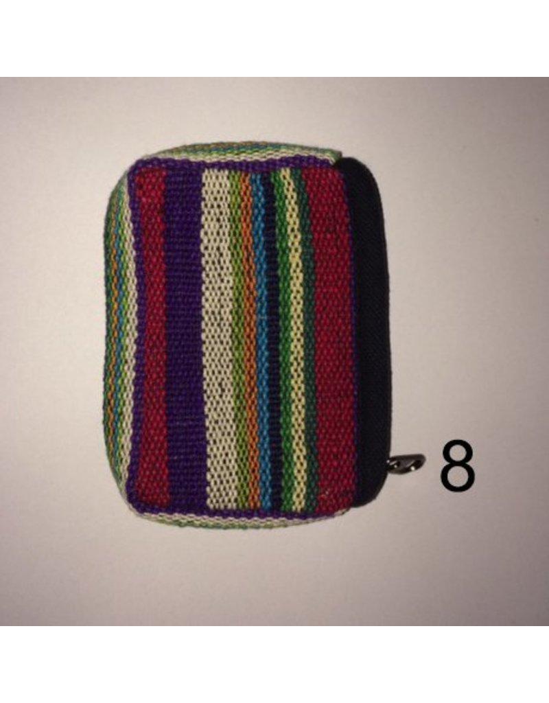 Mandisakura Tasje katoen mengkleuren met rits