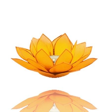 Mandisakura Lotus sfeerlicht chakra 3 geel goudrand