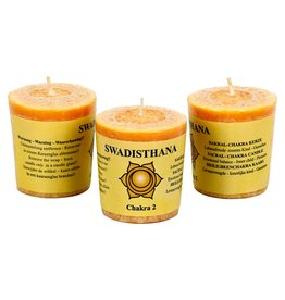 Yoga & Yogini Chakra 2 geurkaarsje Swadhisthana