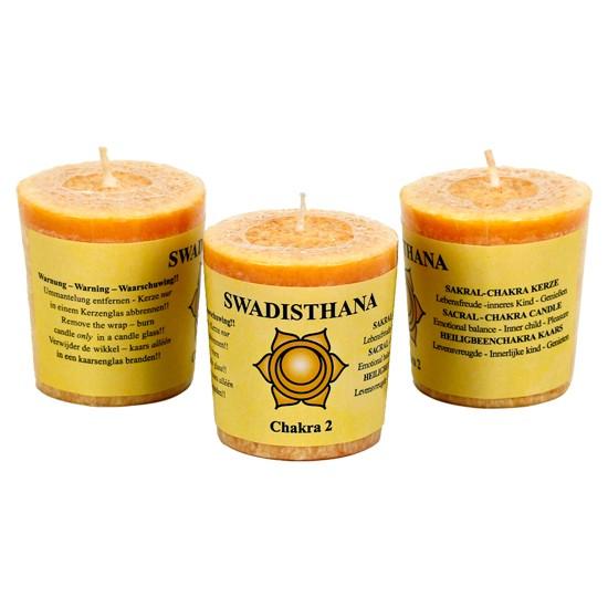 Yoga & Yogini Chakra 2 geurkaarsje Swadhisthana (evenwicht)