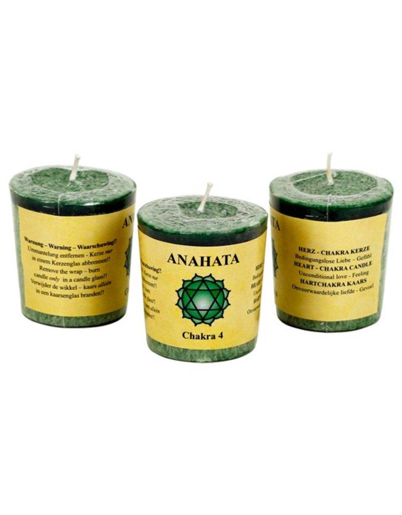 Yoga & Yogini Chakra 4 geurkaarsje Anahata (liefde)