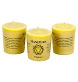 Yoga & Yogini Chakra 3 geurkaarsje Manipura (balans)