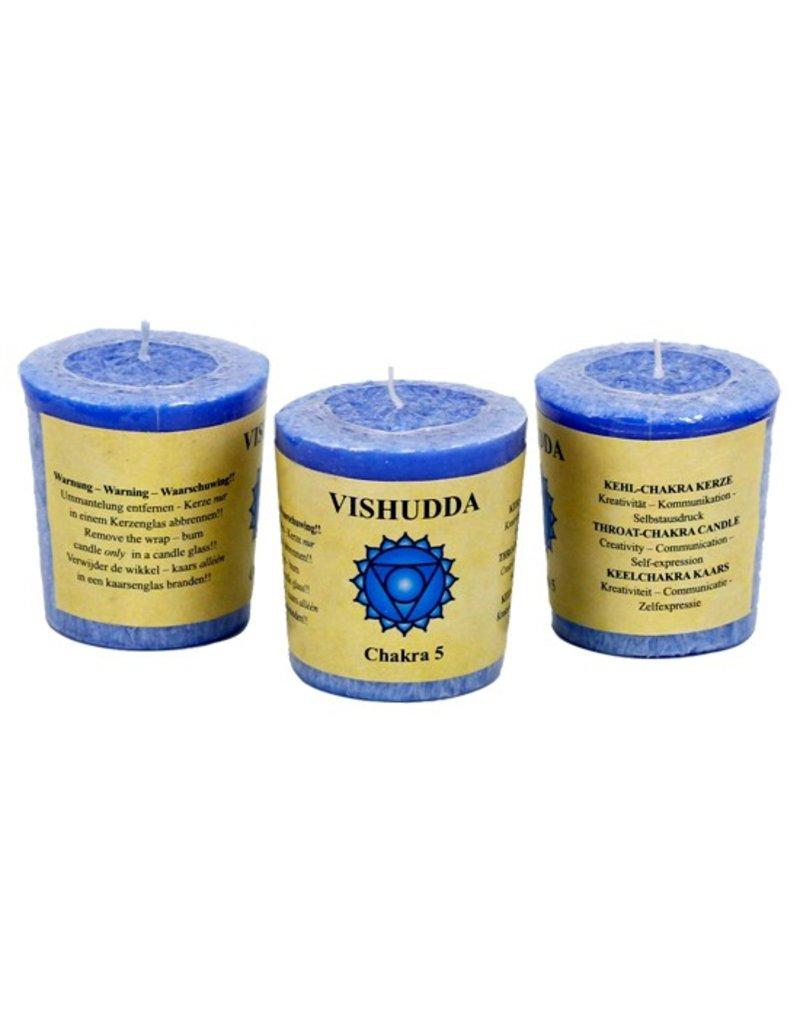 Yoga & Yogini Chakra 5 geurkaarsje Vishuda (creativiteit)