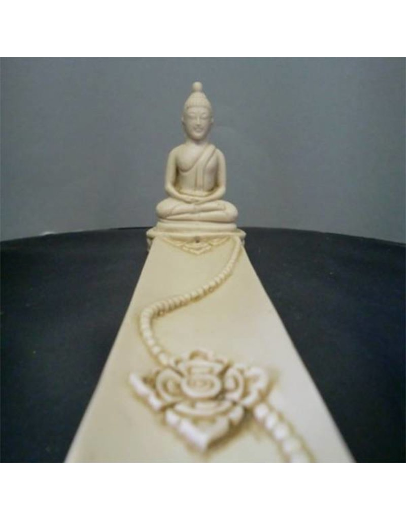Mandisakura Wierookplankje Boeddha wit