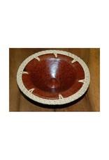 Mandisakura Terracotta schaaltje met vlechtwerk, wierookbrander