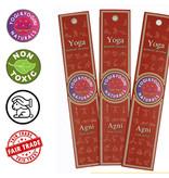 Yoga & Yogini Premium wierook uit de Yogi & Yogini serie - 'Agni' - basisgeur patchouli