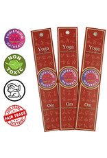 Yoga & Yogini Premium wierook - 'OM' - basisgeur benzoïne/hout