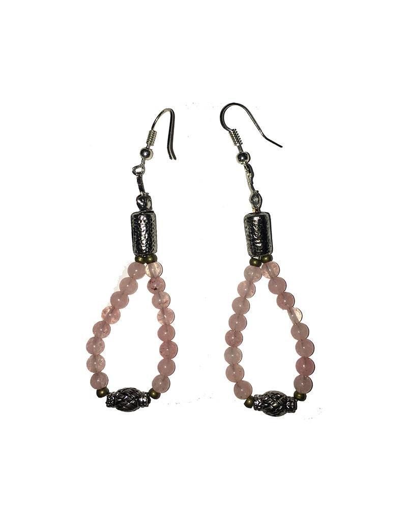 Mandisakura Prachtige oorbellen, hanger in de kleur roze