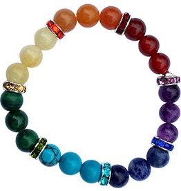 Mandisakura Armband 7 chakra's - elastisch
