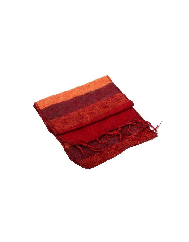 Mandisakura Sjaal Oranje Rood
