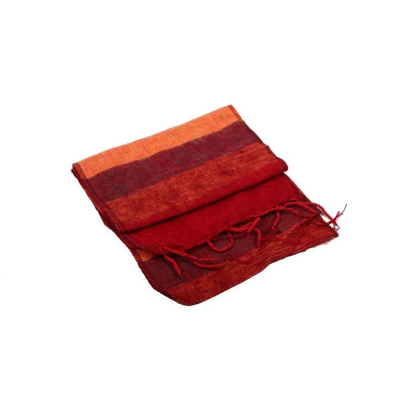 Mandisakura Sjaal Oranje Rood, confortabel en voelt lekker warm en zacht
