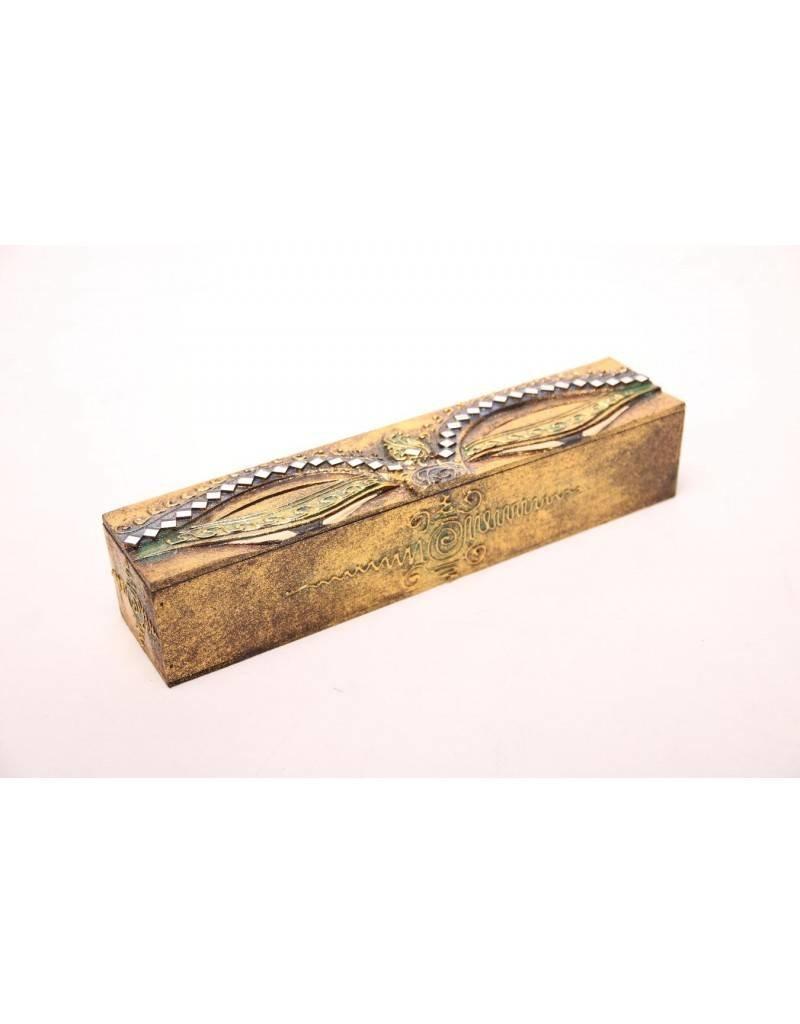 Mandisakura Wierookbewaardoos - goud