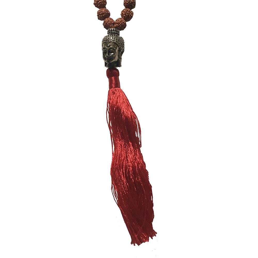 Mandisakura Mala rudraksha met boeddhahoofdje
