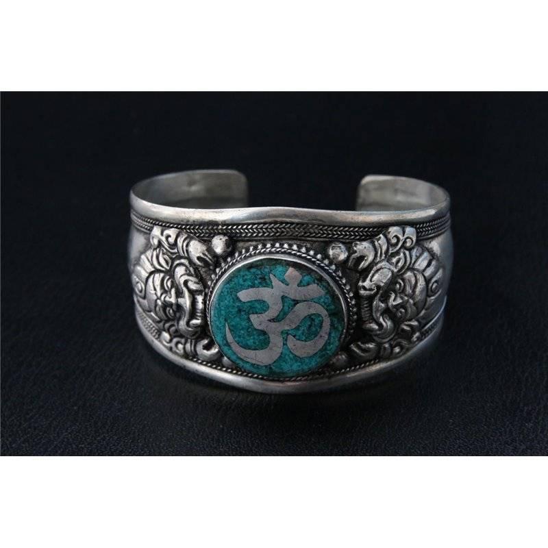 Mandisakura Armband - metaal  met Ohm teken