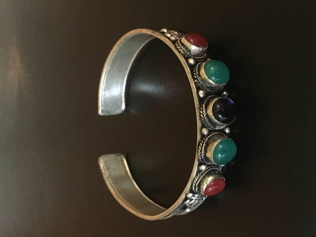 Mandisakura Armband - met meerkleurige stenen - metaal