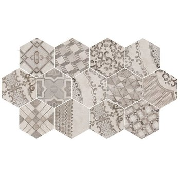 Marazzi Clays 18,2X21 Mm7z Cement Grey Hexagon Decor