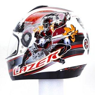 Lazer Helmen Lazer Vertigo Raijin White - Red XXL