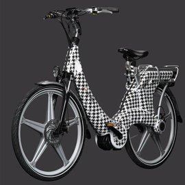 Carter E-volution Bike Carter E-Bike 250W Black-White patern