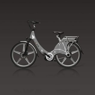 Carter E-volution Bike Carter E-Bike 250W Zwart-Wit patroon